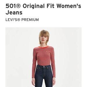 Levi's Jeans - Women's 501 button fly jeans
